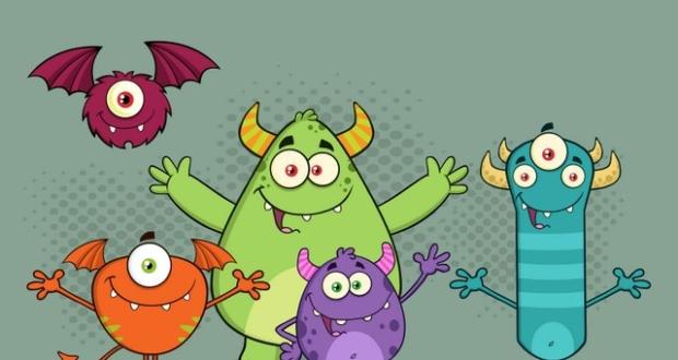 Rysunek przedstawiający Potwory z Wiochy
