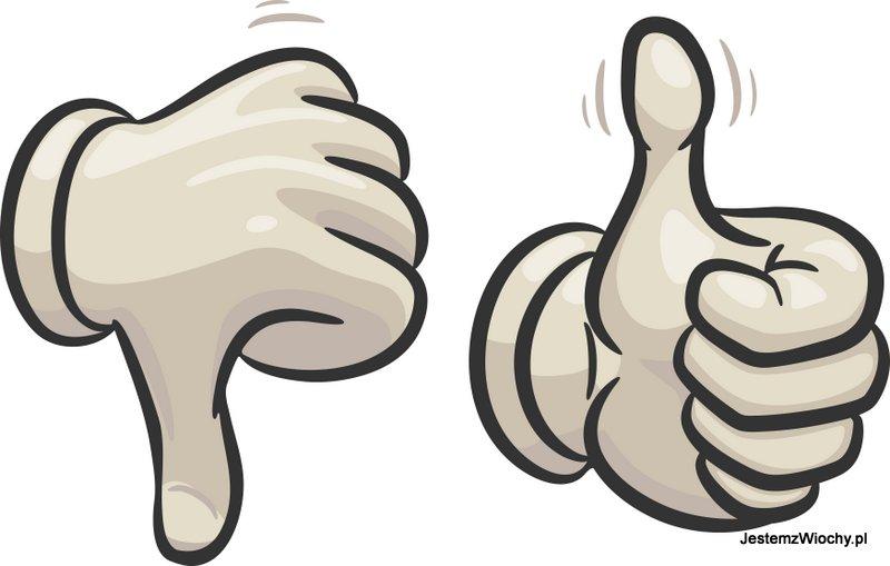 Recenzje można przedstawić za pomocą kciuka